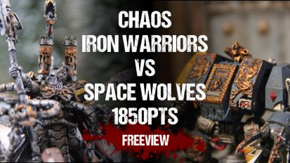Warhammer 40,000 Battle Report: Chaos Iron Warriors vs Space Wolves 1850pts