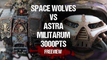 Warhammer 40,000 Apocalypse Battle Report: Space Wolves vs Astra Militarum 3000pts