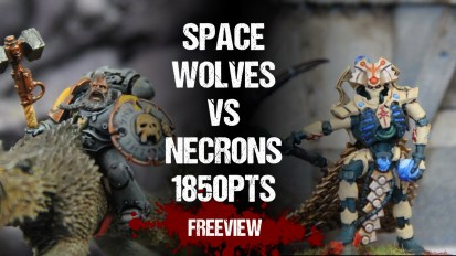 Warhammer 40,000 Battle Reports: Space Wolves vs Necrons 1850pts