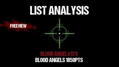 List Analysis: Blood Angelx13's Blood Angels 1850pts
