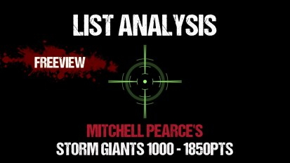 List Analysis: Mitchell Pearce's Storm Giants 1000 – 1850pts