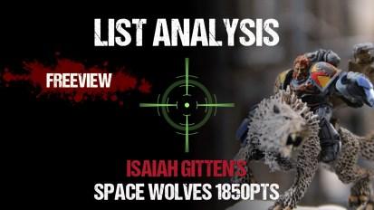 List Analysis: Isaiah Gitten's Space Wolves 1850pts