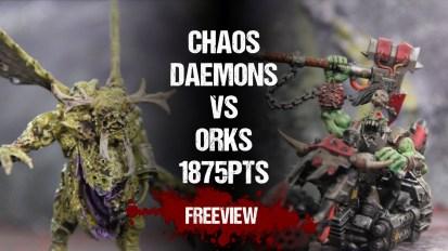Warhammer 40,000 Battle Report: Chaos Daemons vs Orks 1875pts