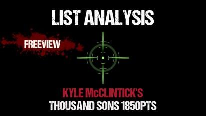 List Analysis: Kyle McClintick's Thousand Sons 1850pts