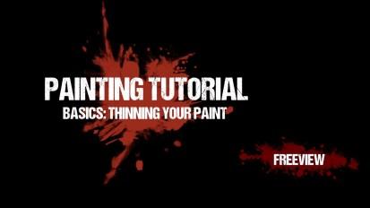 Warhammer 40,000 Painting Tutorial Basics: Thinning Your Paint