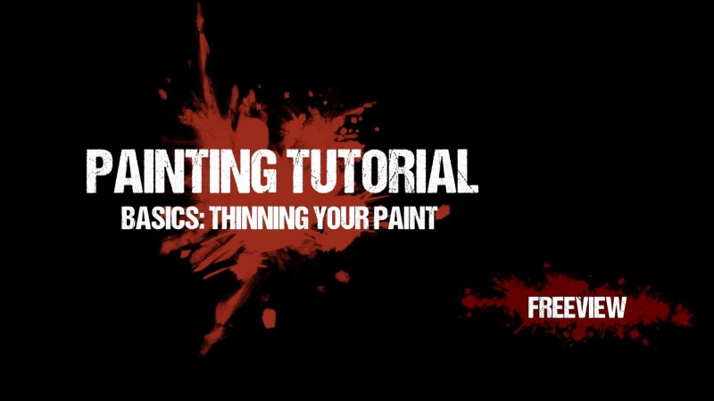 Warhammer 40,000 Painting Tutorial Basics: Thinning Your Paint