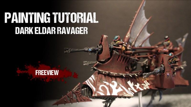 Warhammer 40,000 Painting Tutorial: Dark Eldar Ravager