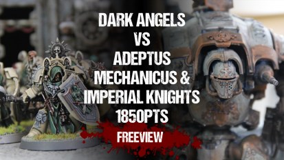 Warhammer 40,000 Battle Report: NEW!! Dark Angels vs Adeptus Mechanicus & Imperial Knights 1850pts
