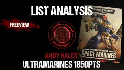 List Analysis: Andy Hales' Ultramarines 1850pts