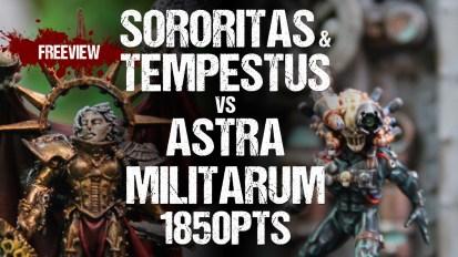 Warhammer 40,000 Battle Report: Sororitas and Tempestus vs Astra Militarum 1850pts