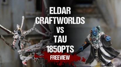 Warhammer 40,000 Battle Report: Eldar Craftworlds vs Tau 1850pts