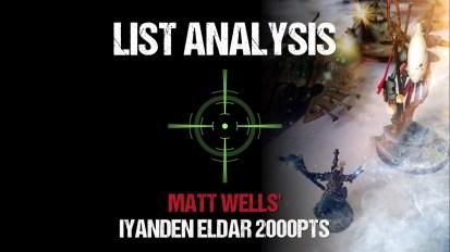 List Analysis: Matt Wells' Iyanden Eldar 2000pts (with Joe Pointing)