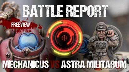 Warhammer 40,000 Battle Report: Cult Mechanicus vs Astra Militarum 1850pts