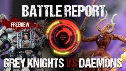 Aceface Collaboration 40k Battle Report: Grey Knights vs Daemons 1850pts