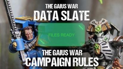 The Gaius War Data Slate: Campaign Rules