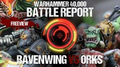 Warhammer 40,000 Battle Report: Ravenwing vs Orks 1850pts