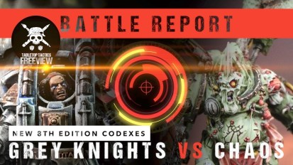 *NEW CODEXES* Warhammer 40,000 Battle Report: Grey Knights vs Chaos Space Marines 2000pts