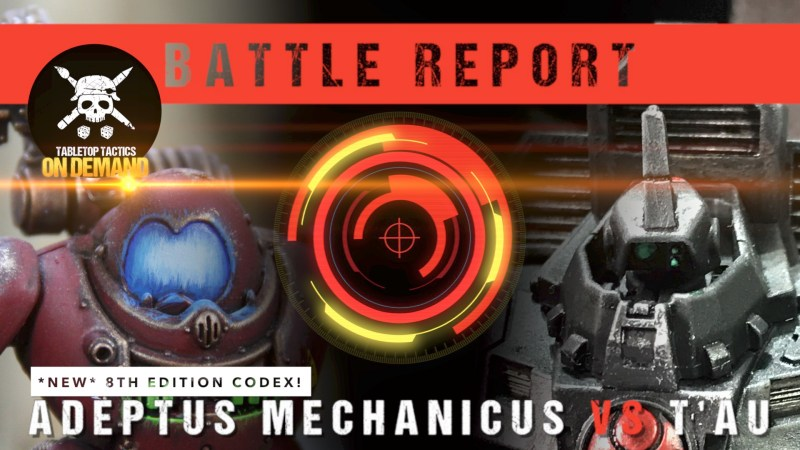 Warhammer 40,000 *NEW CODEX* Battle Report: Adeptus Mechanicus vs T'au 2000pts