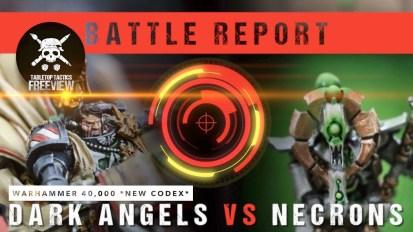 Warhammer 40,000 8th Ed Battle Report: *NEW CODEX* Dark Angels vs Necrons 2000pts