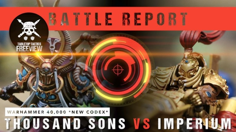 Warhammer 40,000 Battle Report: *NEW* Thousand Sons vs Imperium 2000pts