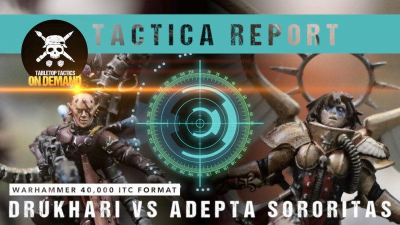 Warhammer 40,000 Tactica Battle Report: Drukhari vs Adeptus Sororitas 2000pts