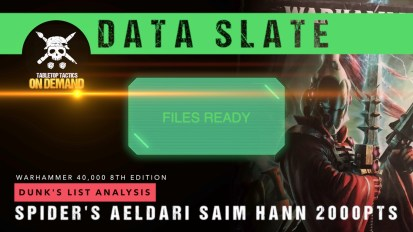 Warhammer 40,000 Data Slate: Dunk's List Analysis – Spider's Saim Hann 2000pts
