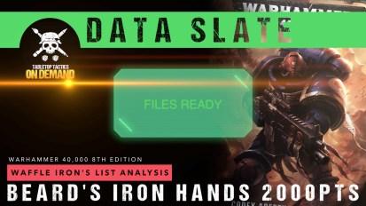Warhammer 40,000 Data Slate: Waffle Iron's List Analysis – Beard's Iron Hands 2000pts