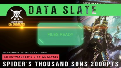 Warhammer 40,000 Data Slate: Ghostwalker's List Analysis – Spider's Thousand Sons 2000pts