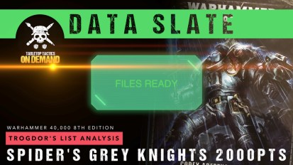Warhammer 40,000 Data Slate: Trogdor's List Analysis – Spider's Grey Knights 2000pts