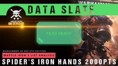 Warhammer 40,000 Data Slate: Waffle Iron's List Analysis – Spider's Iron Hands 2000pts