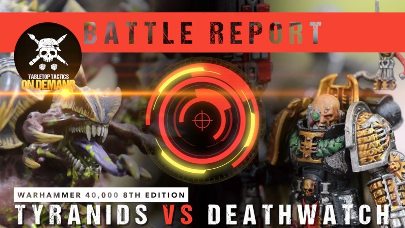 Warhammer 40,000 8th Edition Battle Report: Tyranids vs Deathwatch 2000pts