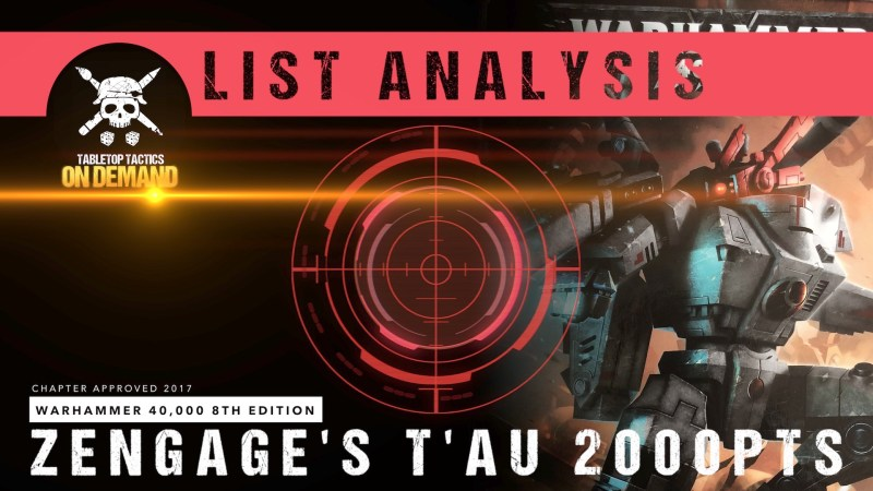 Warhammer 40,000 8th Edition List Analysis: Zengage's T'au 2000pts