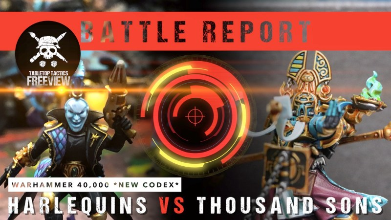 Warhammer 40,000 *NEW CODEX* Battle Report: Harlequins vs Thousand Sons 1750pts