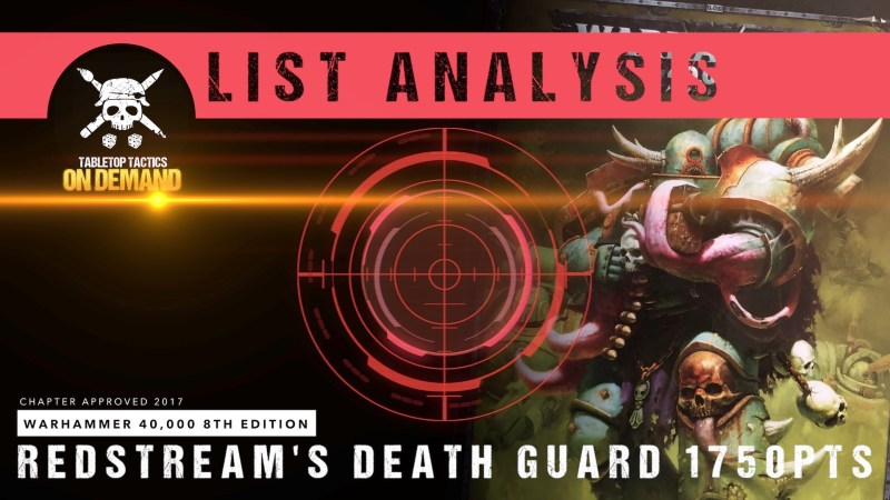 Warhammer 40,000 8th Edition List Analysis: Redstream's Death Guard 1750pts
