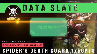 Warhammer 40,000 Data Slate: Redstream's List Analysis – Spider's Death Guard 1750pts