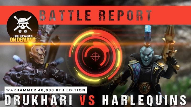 Warhammer 40,000 Battle Report: Drukhari vs Harlequins 2000pts