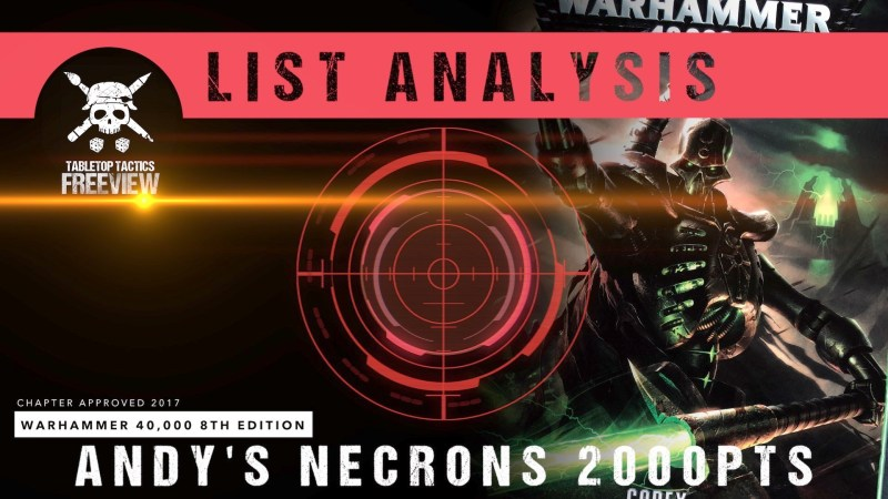 Warhammer 40,000 List Analysis: Andy's Necrons 2000pts