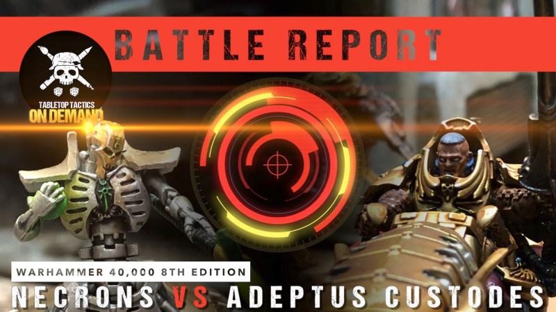 Warhammer 40,000 Battle Report: Necrons vs Adeptus Custodes 1750pts