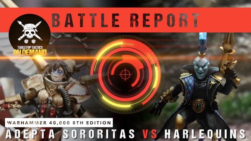 Warhammer 40,000 Battle Report: Adepta Sororitas vs Harlequins 2000pts