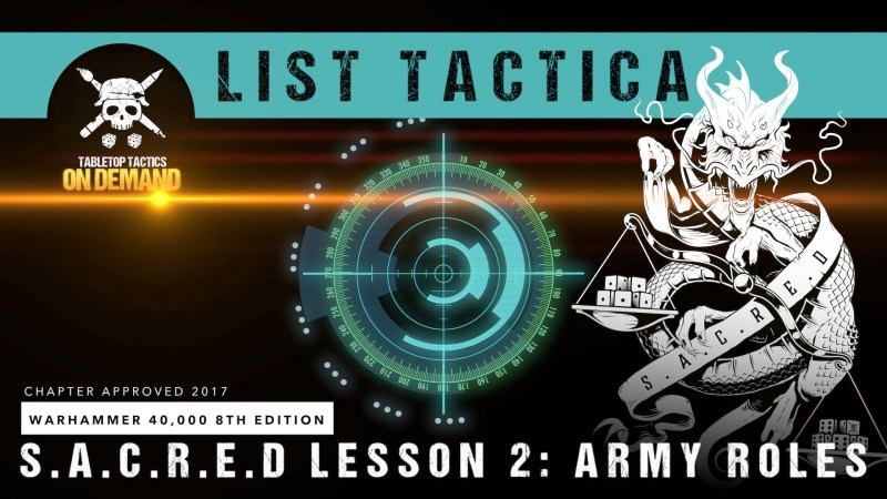 Warhammer 40,000 List Tactica: S.A.C.R.E.D Lesson 2 - Army Roles