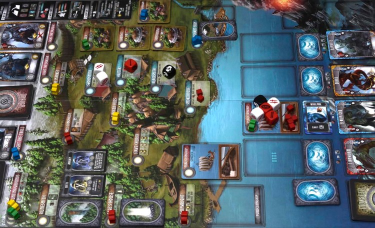 Champions of Midgard Review - Board set-up