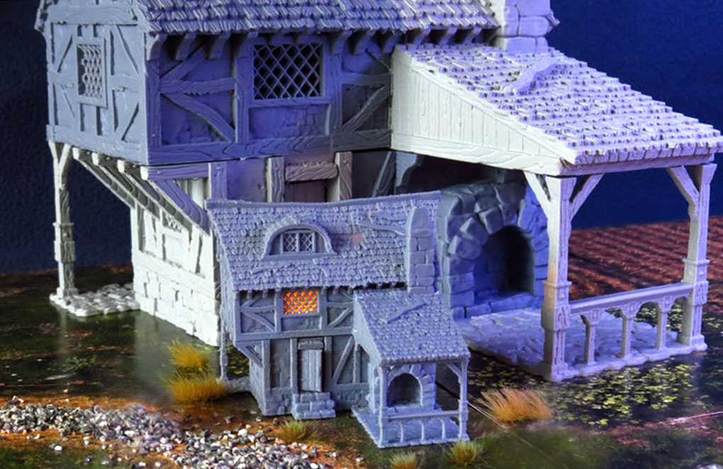 photo about Printable Buildings called Assessment] Metropolis of Tarok: 3D Printable Constructions For 28mm (And