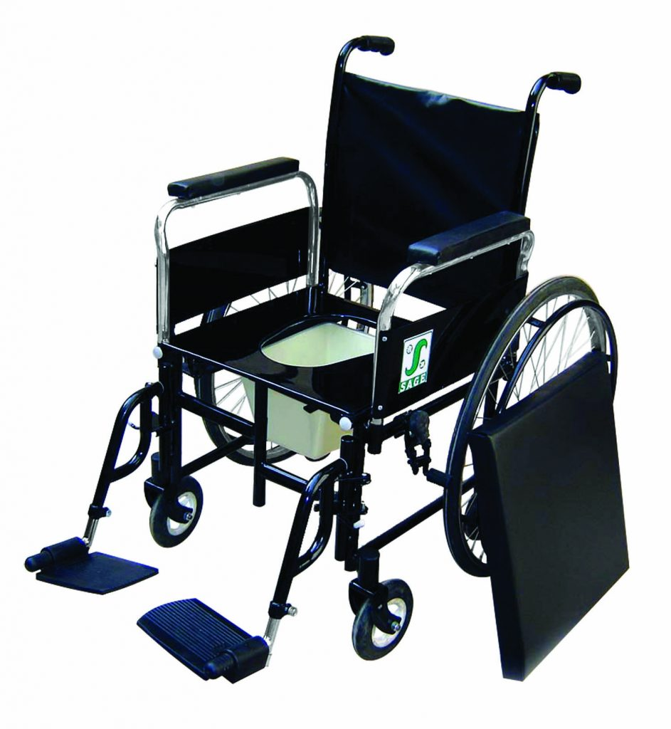 wheelchair with pot floor rocking chair india sage self propelling e 25 c