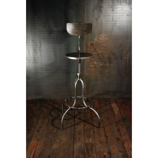 Tabouret Style Industriel Chaises Haute Atelier Acier