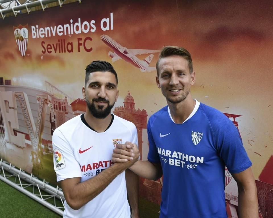 Dabbur and De Jong Sevilla