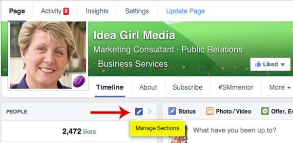 Keri Jaehnig of Idea Girl Media shows you how to manage sections in the left column of your new Facebook Page Layout 2014 for TabSite
