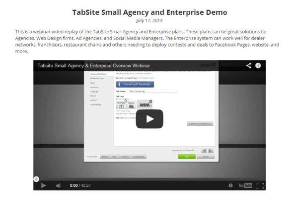 Agency Webinar on TabSite Features