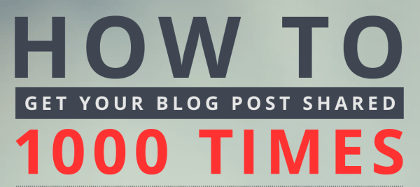 1000 shares on social media for your blog post