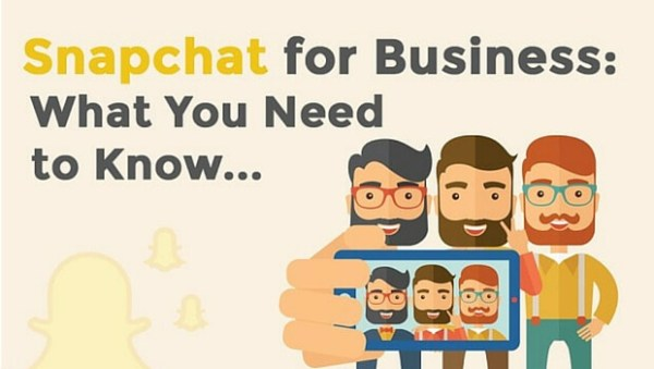 snap chat for business