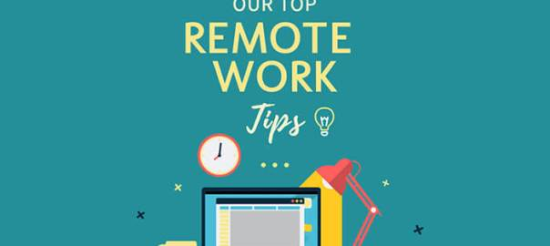 Infographic on tips-for-working-from-home
